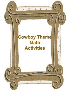 Cowboy/Western Theme Math Packet