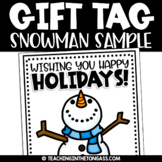 Cozy Snowman Clipart Freebie