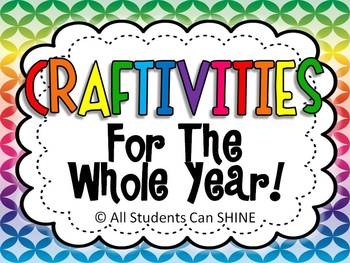 Craftivities For The Whole Year!