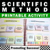 Scientific Method Interactive Notebook Activities Science