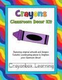 Crayon Classroom Decor Kit with Editable Files
