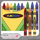Crayons 1 - Art by Leah Rae Clip Art & Line Art / Digital Stamps