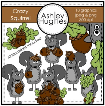 Crazy Squirrel {Graphics for Commercial Use}