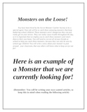 Create A Monster Wanted Poster Creative Writing Activity