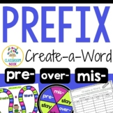 Create-a-Word Prefix Game  (mis, pre, over)