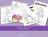 Create a coloring book with Adobe Photoshop CS3, CS4, or CS5