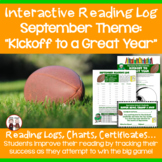 September Reading Log (Kickoff to a Great Year)