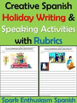 Creative Spanish Holiday Writing & Speaking Activities wit