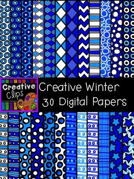 Creative Winter Papers {Creative Clips Digital Clipart}