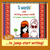 Back to School Creative Writing - 3 words cards