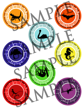image relating to Creature Power Discs Printable titled Wild Kratts Creature Energy Discs Basically