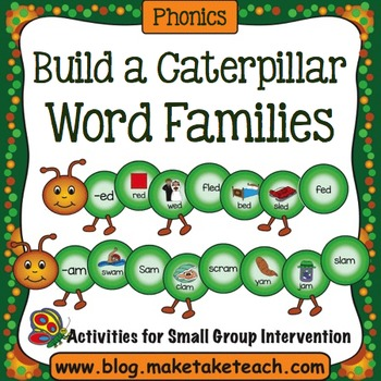 Word Families - Creepy Crawly Caterpillars