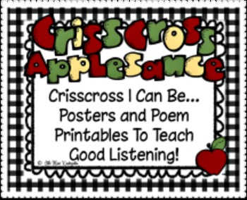 Crisscross Rules For Good Listening Posters, Poem and Book