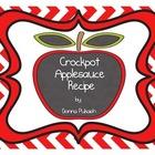 Crockpot Applesauce- Sequence of Events