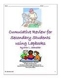 Cumulative Review for Secondary Students using Lapbooks