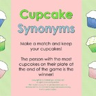 Cupcake Synonyms Freebie--A synonyms matching activity for