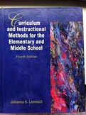 Curriculum & Instructional Methods for the Elementary and