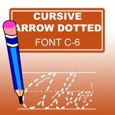 Cursive Arrow Dotted Font