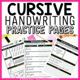 Cursive Handwriting Practice Pages - A Cursive Unit - {138