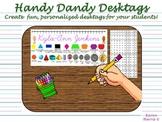 Cursive Handy Dandy Desktags - font embedded!
