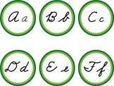 Cursive Word Wall Green Labels Headers March St. Patrick's Day