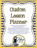 Custom Editable Teacher Lesson Planner