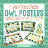 Customizable Owl Theme Posters