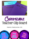 Customizable Teacher Clipboard (set of 5 any color)