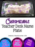 Customizable Teacher Desk Nameplate