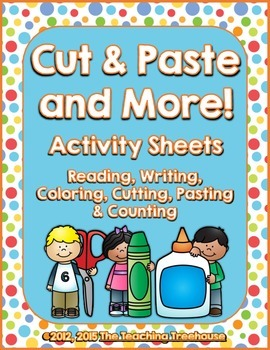 Cut & Paste And More Activity Sheets