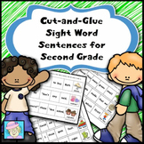 Cut-and-Glue Sight Word Sentences for Second Grade