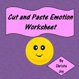 Cut and Paste Emotion with Picture worksheet