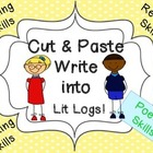 Cut and Paste Poetry Skills Write into Lit Logs