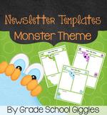 Cute Monster Themed Newsletter Template