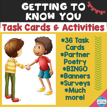 Getting to Know You: Task Cards, Surveys, BINGO & More!