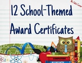 Award Certificates: School Themed
