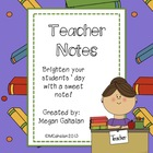Cute Teacher Notes for Students