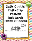 Cutie Cootie Multi-Step Problem Task Cards {Common Core}
