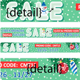 Cyber Monday 2012 Promo Banners