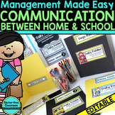 DAILY COMMUNICATION FOLDER PRINTABLES for CLASSROOM MANAGE