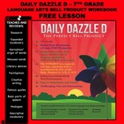 DAILY DAZZLE D - FREE (7th Grade) BELL RINGER PRODUCT FOR
