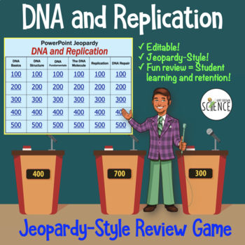 DNA (Deoxyribonucleic Acid) and Replication Powerpoint Jeo