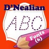 D'Nealian Style Family Fonts