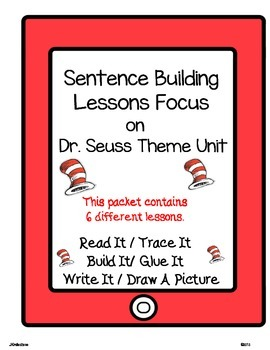DR. SEUSS WORD WORK LITERACY ACTIVITY: Read.Trace.Build.Write It!