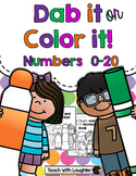 Dab it or Color it - Numbers 0-20