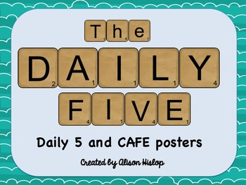 Scrabble Daily 5 and CAFE Posters