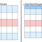 Daily 5 and Center/Groups planner & Progress chart - Patri