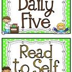 Daily 5 mini posters (freebie)