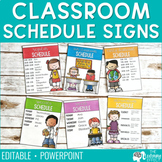 Daily Classroom Schedule Signs {Editable}