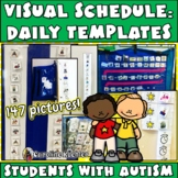 Daily Picture Schedule Pieces & Templates for Students wit